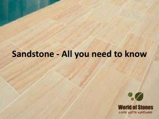 Sandstone - All you need to know