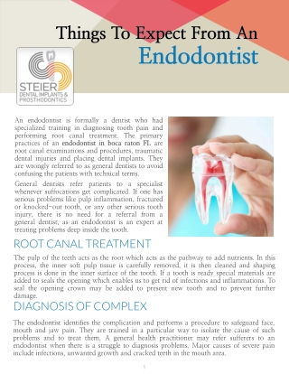 Things To Expect From An Endodontist