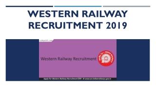 Western Railway Recruitment 2019 | RRC WR GDCE Sr. Clerk-Typist Jobs