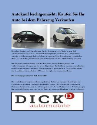 Autokauf leichtgemacht: Kaufen Sie Ihr Auto bei dem Fahrzeug Verkaufen