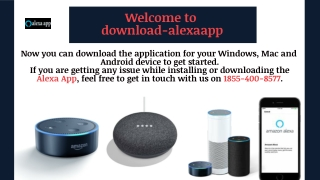 Download Alexa app for PC and install Alexa app | 1855-400-8577