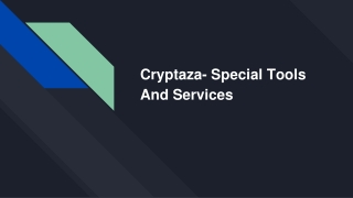 Cryptaza- Special Tools And Services