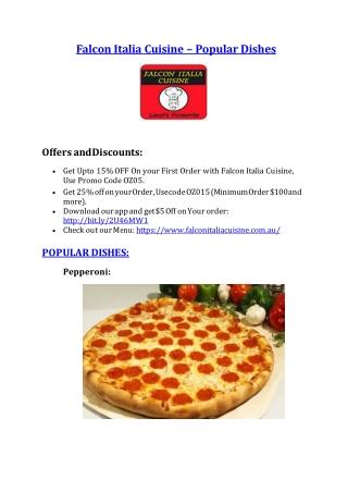 Falcon Italia restaurant Falcon – 10% off - Pizza Falcon