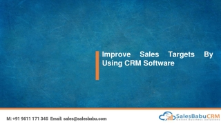 Improve Sales Targets By Using CRM Software