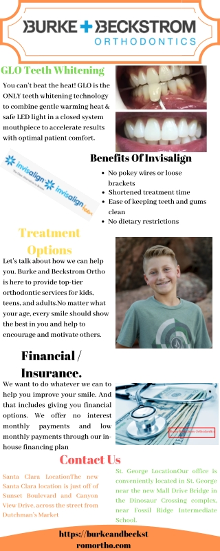 GLO Teeth Whitening at Burke Beckstrom Orthodontics