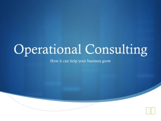 Operational Consulting Basics