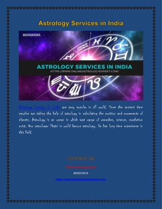 Astrology Services In India