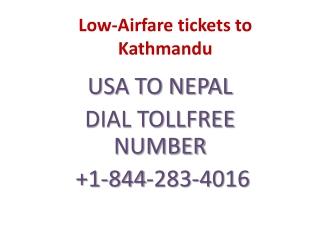 Low-Airfare tickets to Kathmandu