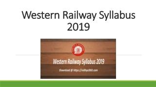 Western Railway Syllabus 2019, GDCE Senior Clerk-Typist Exam Pattern