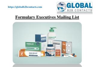 Formulary Executives Mailing List