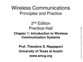Wireless Communications Principles and Practice 2 nd  Edition Prentice-Hall