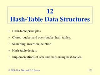 12 Hash-Table Data Structures