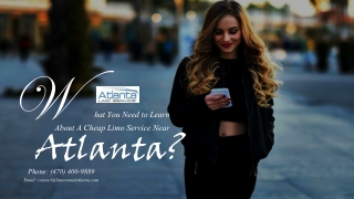 What You Need to Learn About A Limo Service Near Atlanta