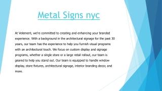 Metal signs nyc