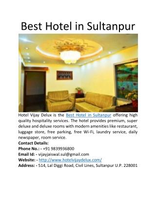 Best Hotel in Sultanpur
