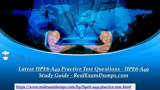 Download Latest HP HPE6-A49 Practice Test Dumps - RealExamDumps.com