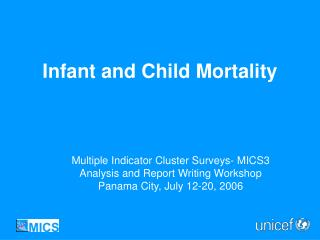 Infant and Child Mortality