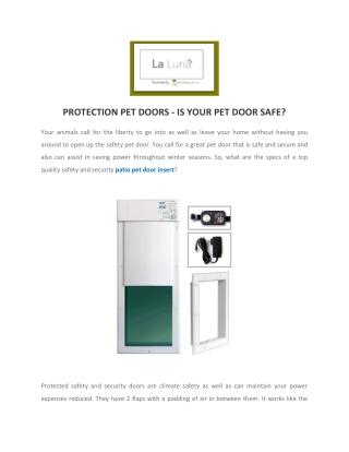 Patio Pet Door Inserts For Cats & Dogs | Temporary Pet Door