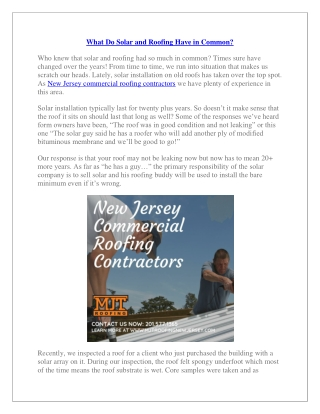 MJT Roofing New Jersey