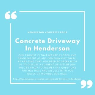 Concrete Driveway In Henderson