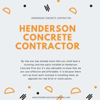 Henderson Concrete Contractor