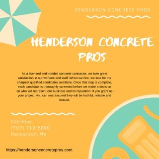 Henderson Concrete Pros