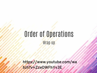 Wrap UP-Order of Operations