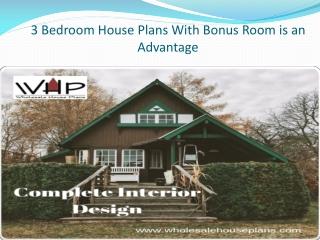 3 Bedroom House Plans With Bonus Room is an Advantage