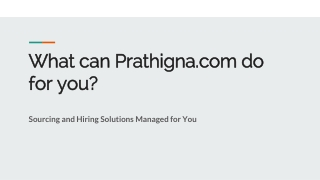 Employment Services and Staffing Agency in Bangalore