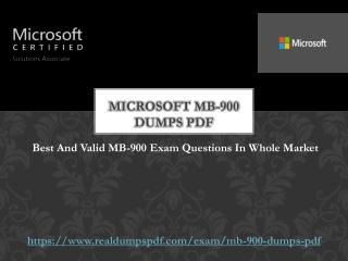 Microsoft MB-900 Dumps Pdf ~ [Updated And Fresh]