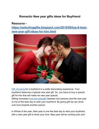 Romantic New Year 2020 Gifts Ideas For Boyfriend