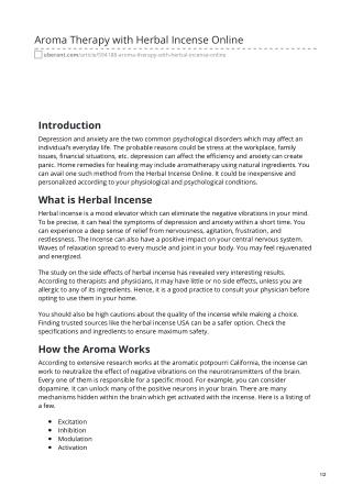 Herbal Incense Online