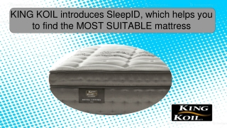SleepID, which helps you to find the MOST SUITABLE mattress