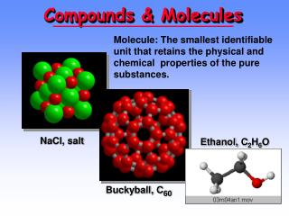 Compounds & Molecules