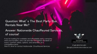 What's the Best Party Bus Rentals Company