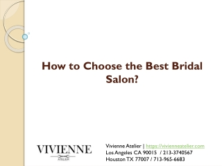 How to Choose the Best Bridal Salon