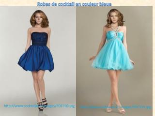 Robes de cocktail en couleur bleue