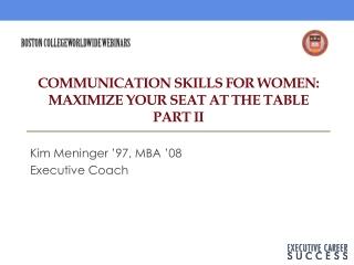 Maximizing Your Communication Skills