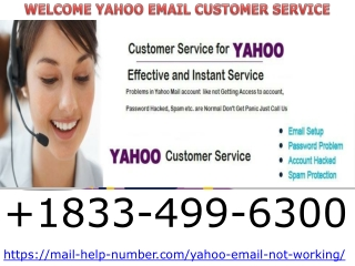 Yahoo Support 1833-499-6300 Yahoo Customer support Phone Number