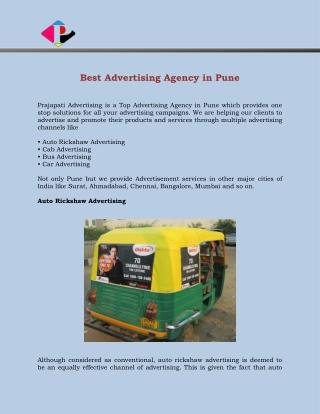 Best Advertising Agency in Pune