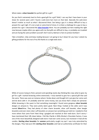Find Silver Bracelet in USA from SilverShine