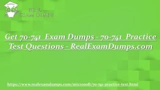 Prepare Microsoft 70-741 Question Answers - 70-741 Practice Test Dumps - RealExamDumps.com