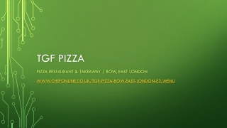 Pizza Restaurant & Takeaway   Bow, East London