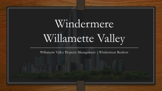 Willamette Valley Property Management | Windermere Realtors