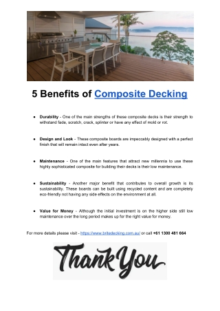 5 Important Benefits of Composite Decking