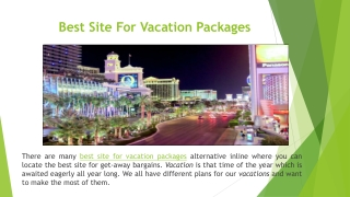 Best Site For Vacation Packages