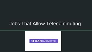 Jobs That Allow Telecommuting