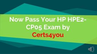 HPE2-CP05 Braindumps