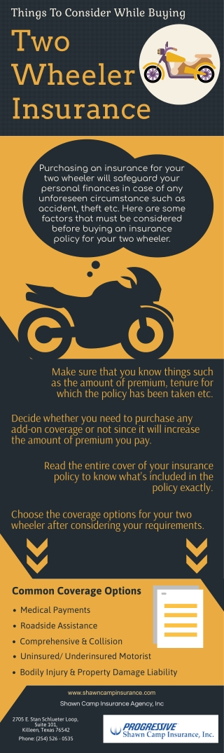 Things To Consider While Buying Two Wheeler Insurance