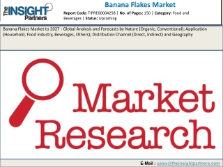 Banana Flakes Market 2019 Growth Opportunities, Industry Analysis, Size, Geographic Segmentation till 2027